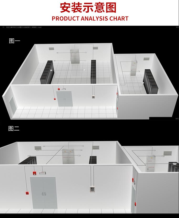柜式欺负丙烷灭火装置安装示意图说明